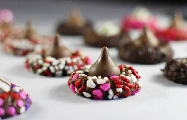 Cocoa Cookies with Chocolate Kisses