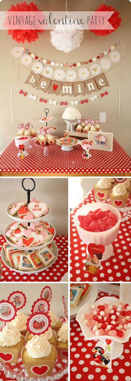 Valentine's Day Cupcake and Candy Station