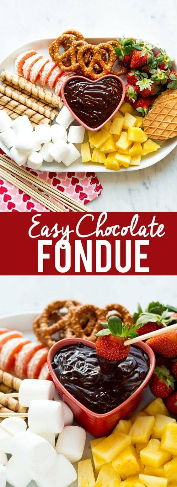 Easy and Quick Chocolate Fondue for the Romantics