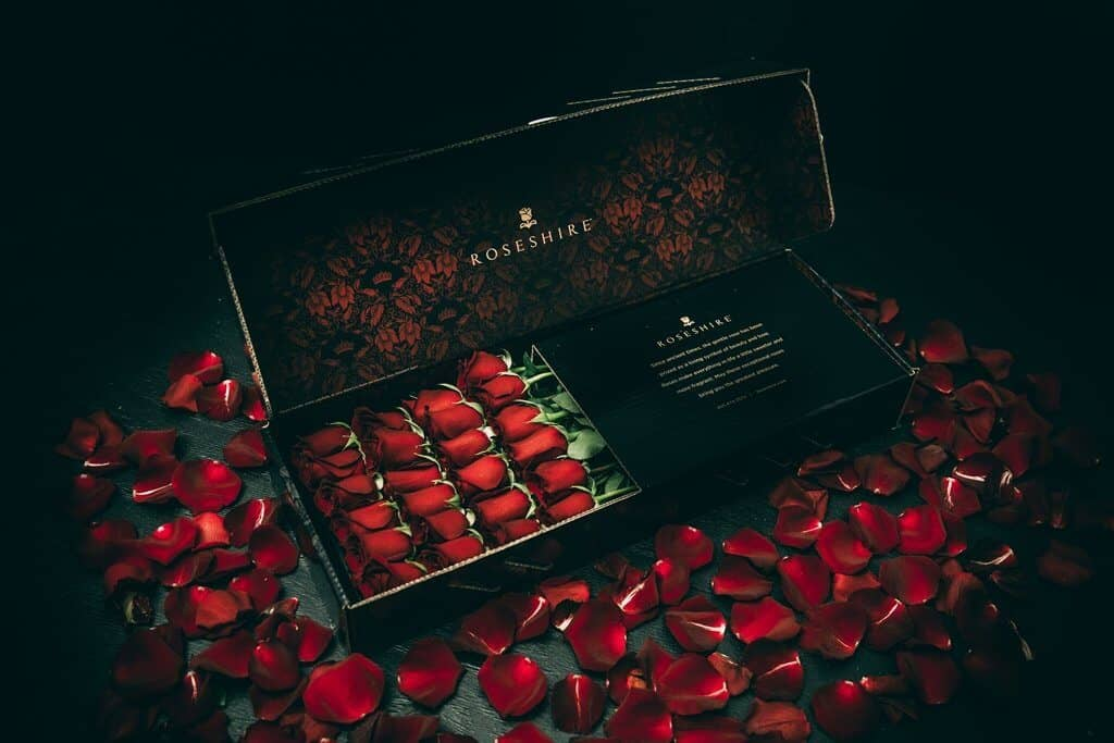 The Black Tie Event Rose Box