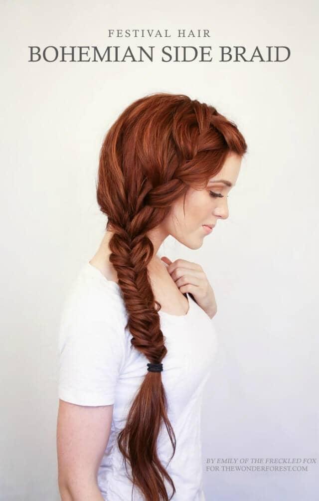 Bohemian Style Festive Side Braid