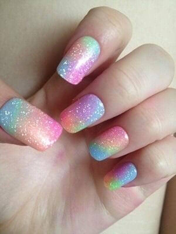 Pastel Galaxy Manicure