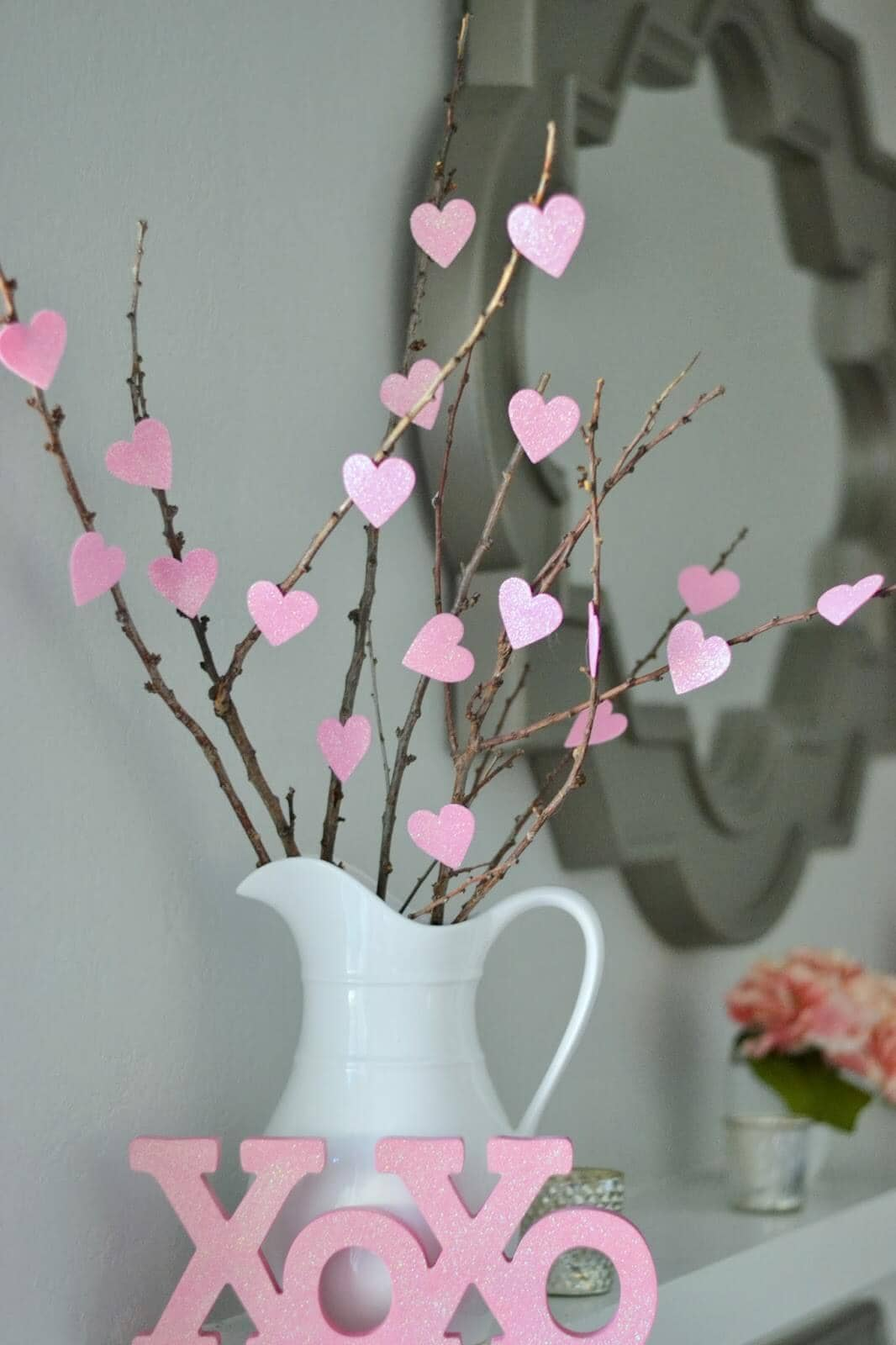 Love Tree with Pink Hearts Valentine's Decoration