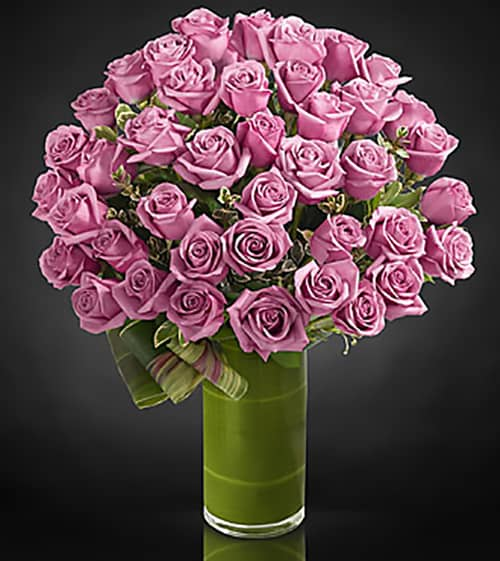 The Classic Purple Rose Bouquet