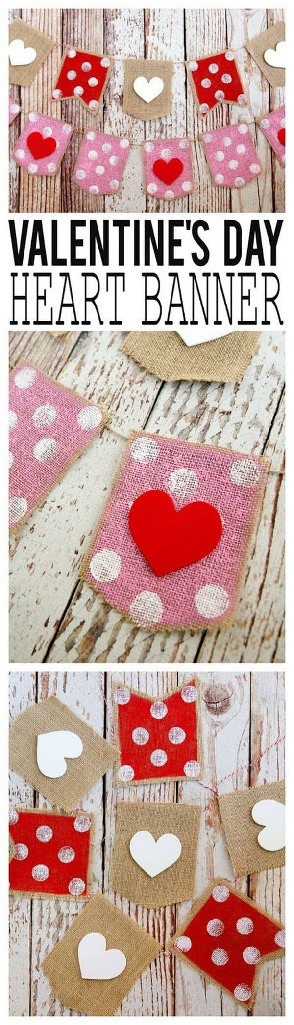 Do it yourself valentines do it yourself projects valentine crafts stitched cloth valentine heart garland with do it yourself valentines solutioingenieria