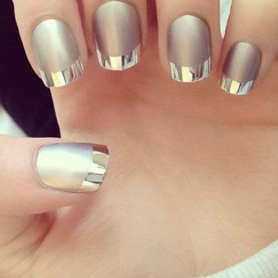 Matte Chrome French Design