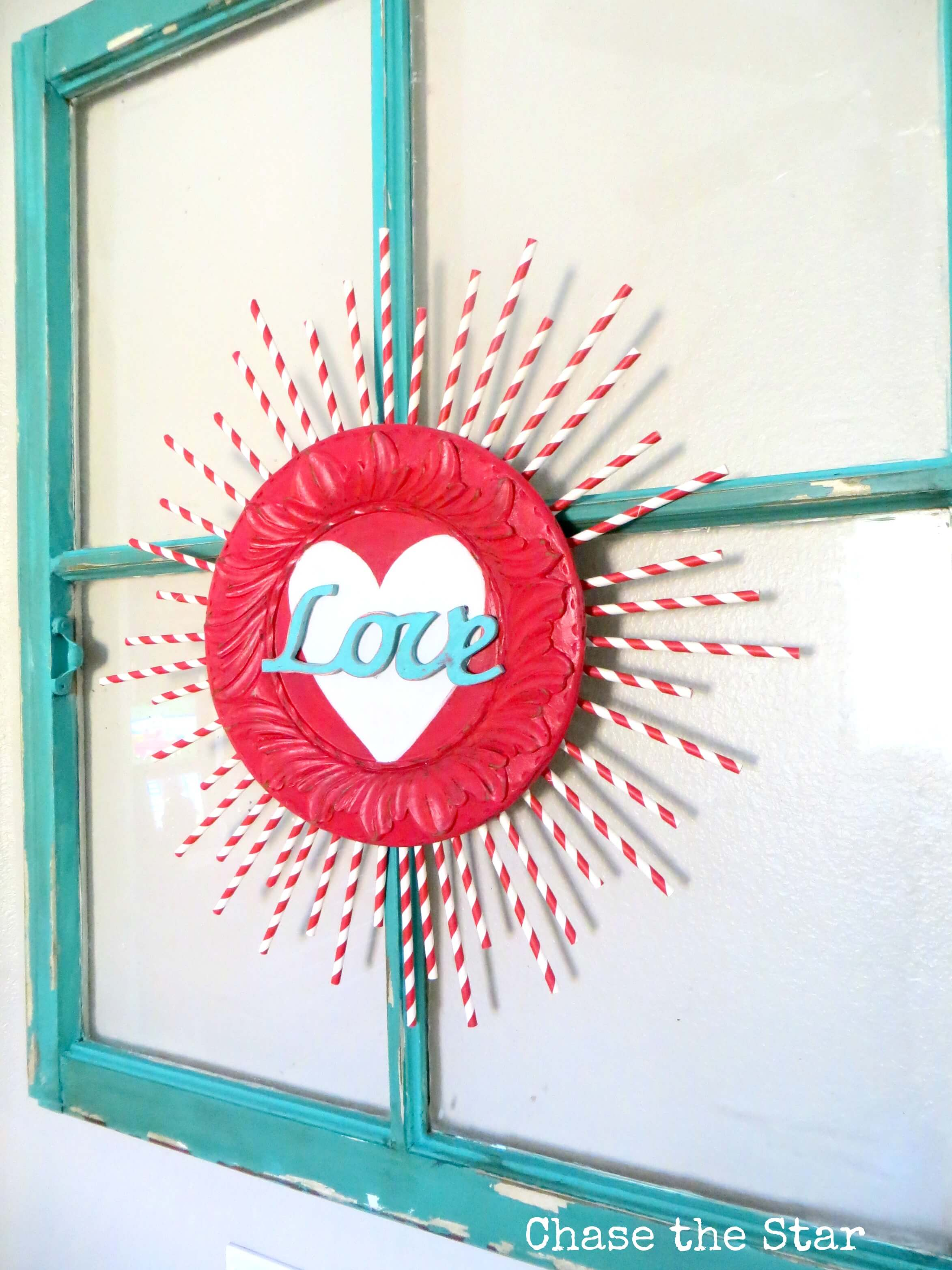 "Bursting Valentine's Heart ""Love"" Window Decoration"