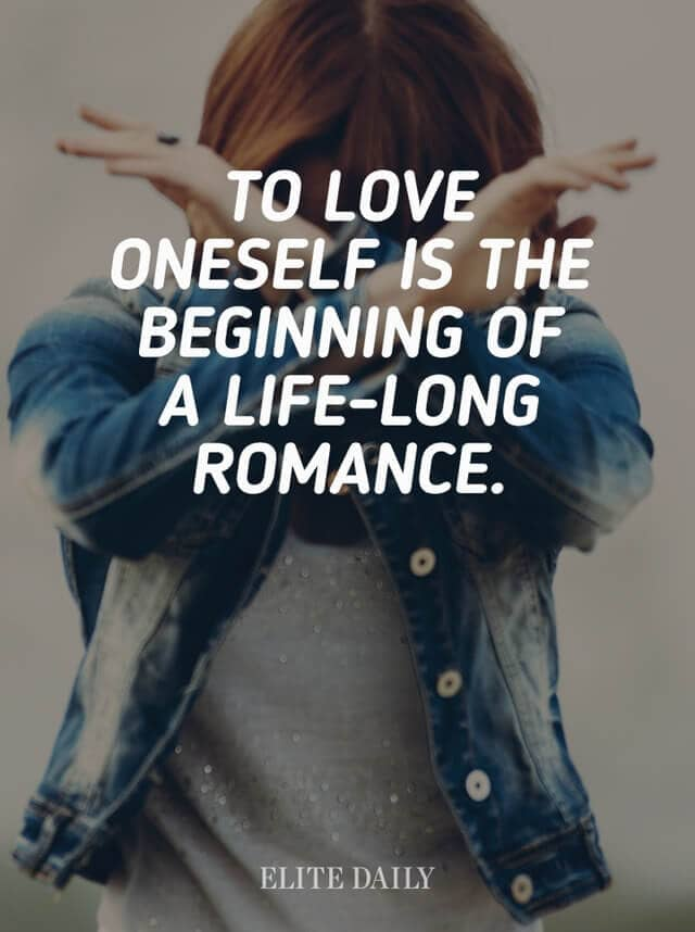 Loving Yourself Is An Eternal Romance