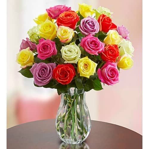 Bright and Funky Colorful Roses