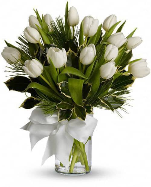 A Simple Matter White Tulip Bouquet