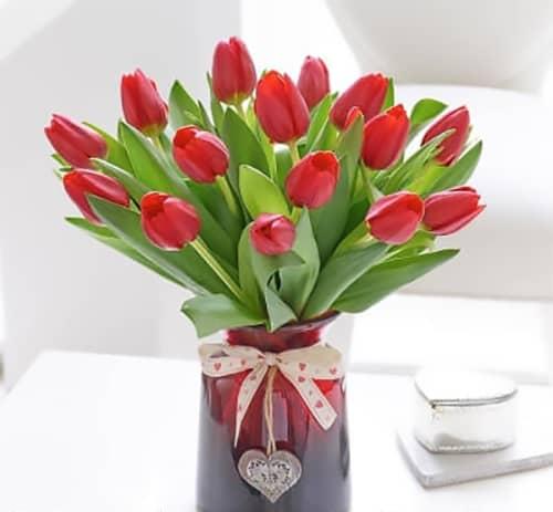 Passionate Nature Pink Tulip Bouquet