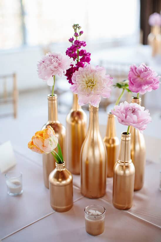 Gold Wine Bottle Assemblage