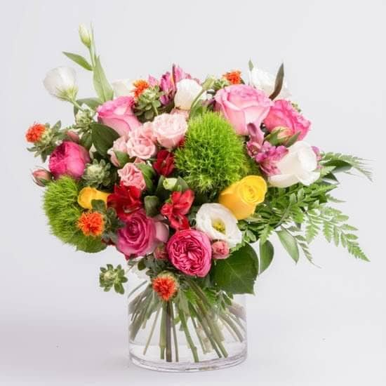 Whimsical Valentine Gathered Flower Bouquet