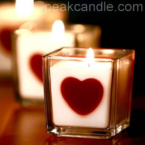 Simple Candle Holder Valentine's Day Decoration Ideas
