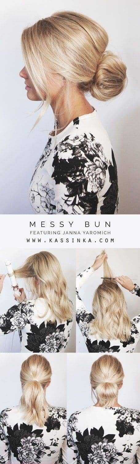 4-Step Messy Bun Tutorial