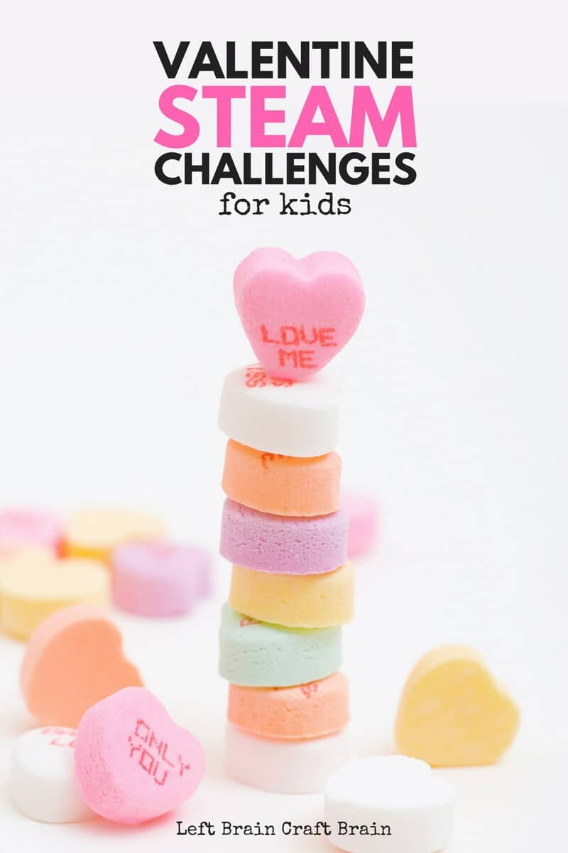Tower of Sweethearts Valentine's Day STEAM Challenge