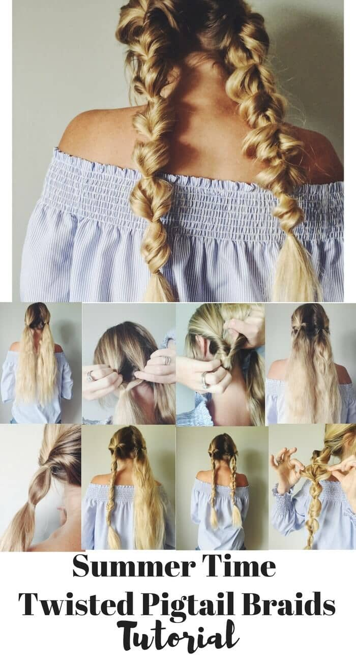 Summer Time Twisted Braided Hair Tutorials