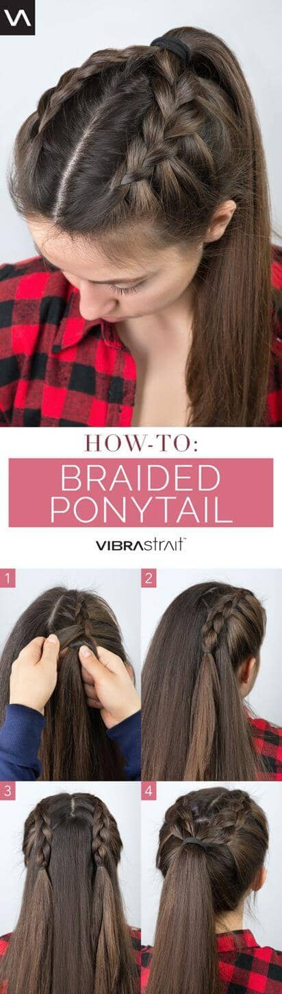Crown Braided High Ponytail