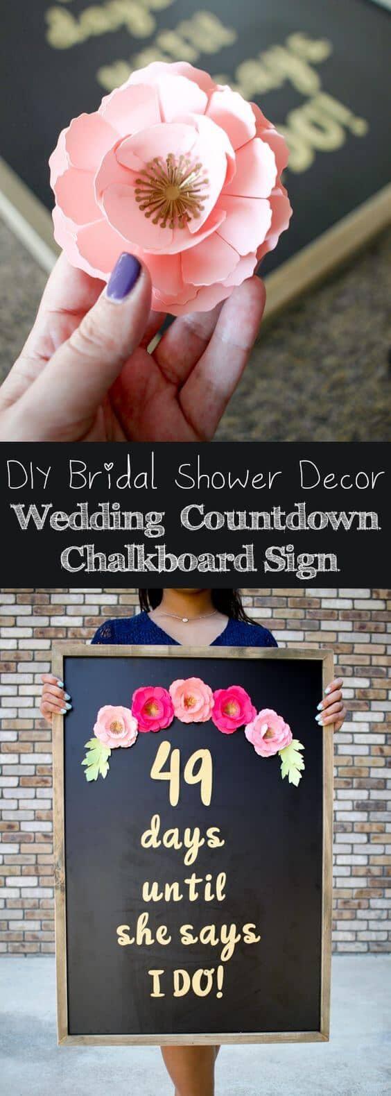 Bridal Shower Wedding Day Board