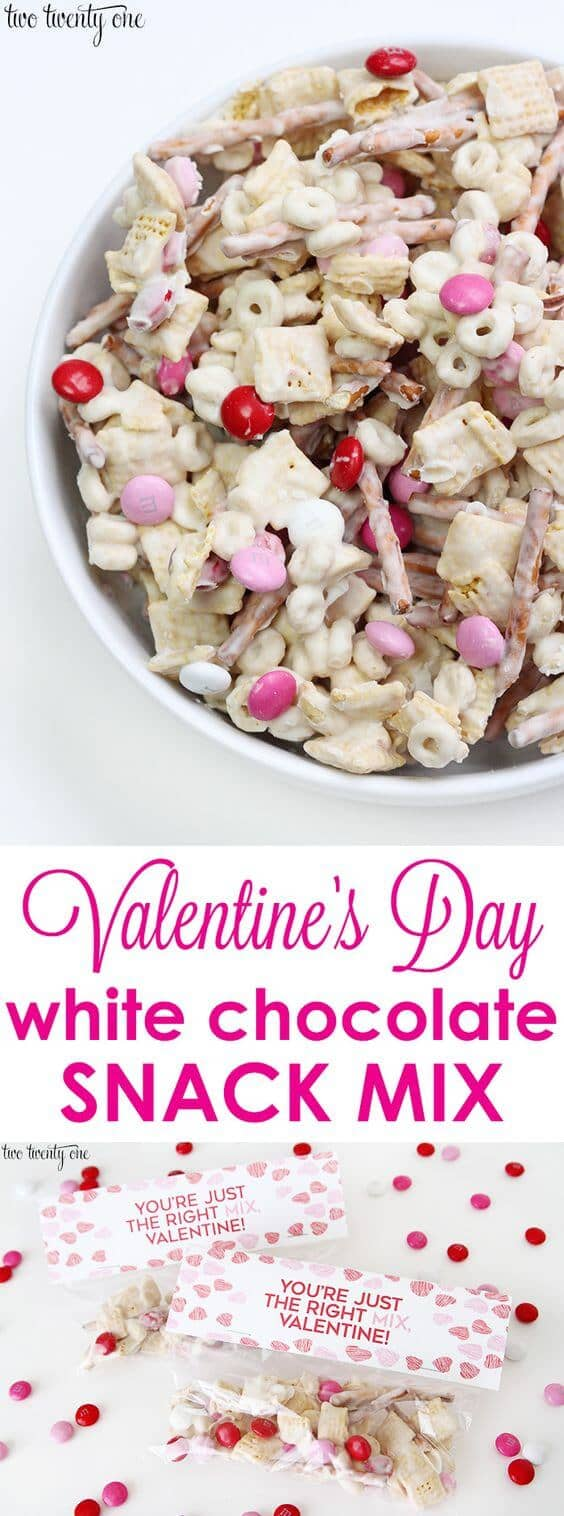 Valentine's Day Puppy Chow Candy