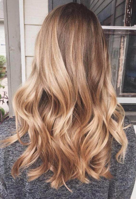 Honey Blonde Shoulder Length Curls