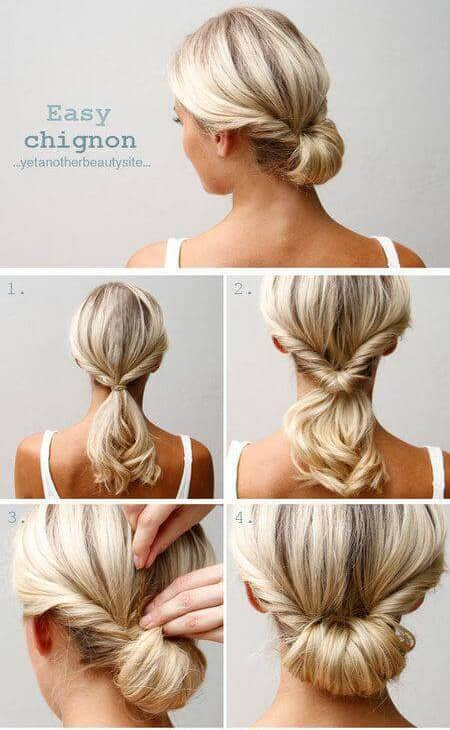 Low Twisted Chignon