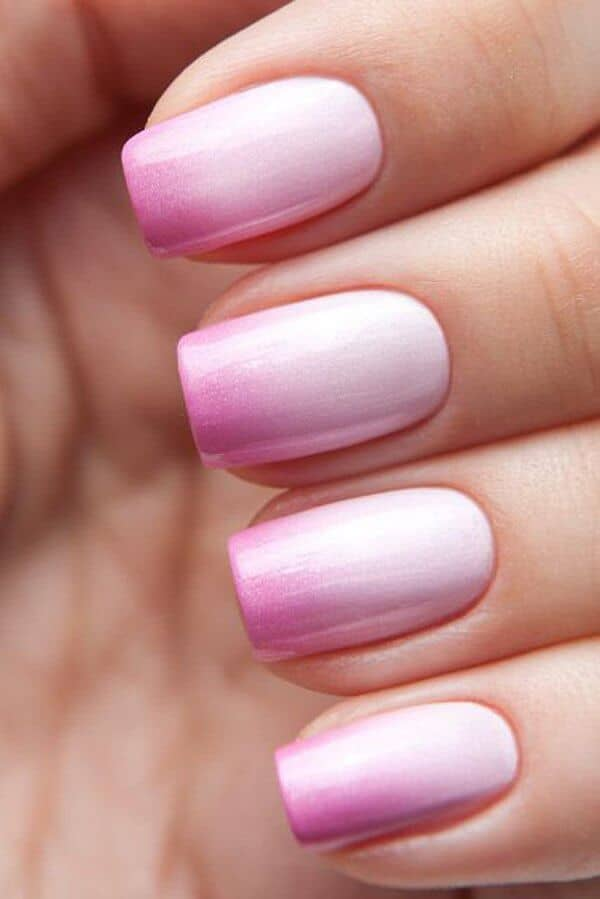 Frosted Candy Coated Ombre Nails