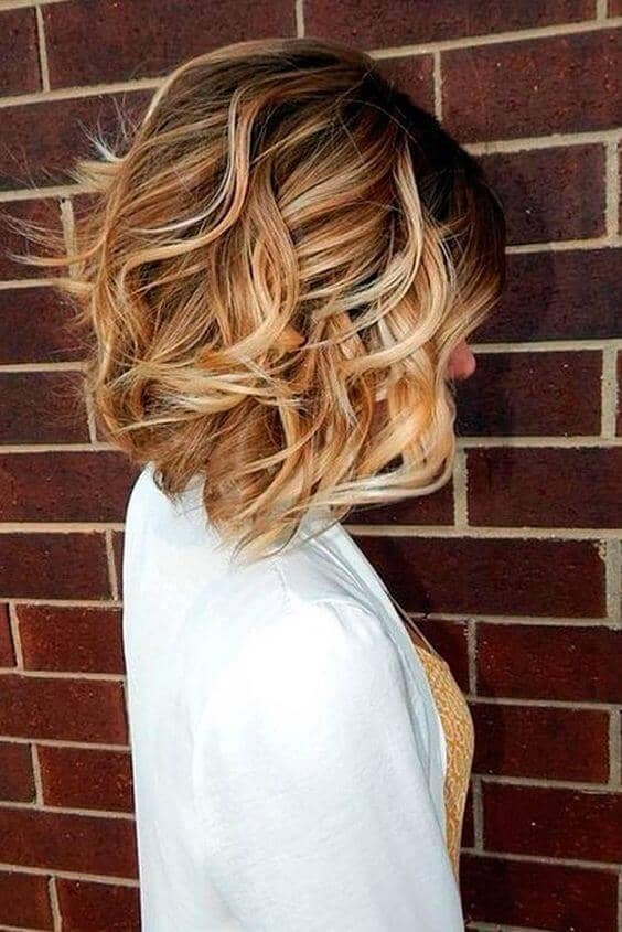 Pretty Angled Honey Blonde Lob