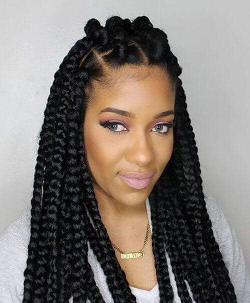 Braided Half Up and Half Down Style
