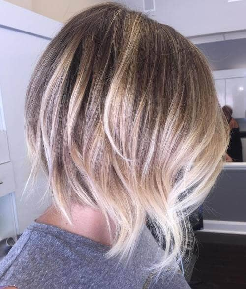 Layered Ash Blonde Lob for Fine Hair