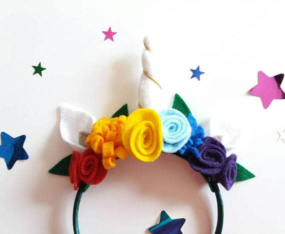 Rainbow Unicorn Horn Headband