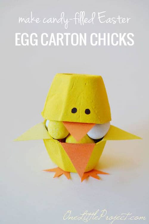 Little Chicks Made From Egg Cartons