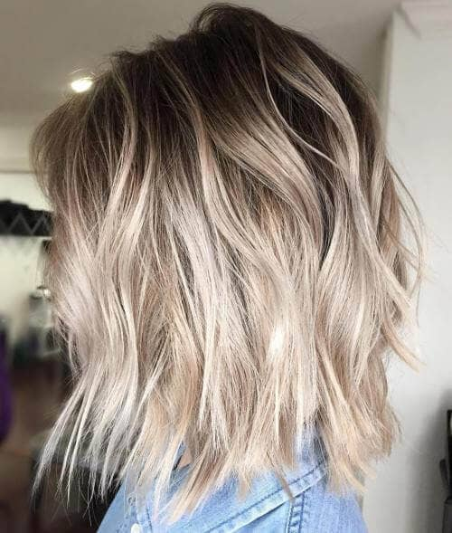 Cool Ashy Blonde Textured Lob