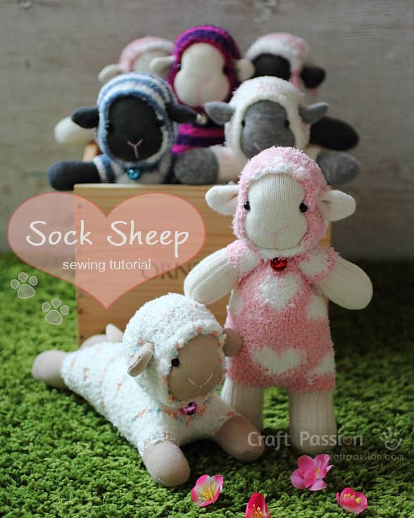 Sheep Sewed from Fuzzy Socks