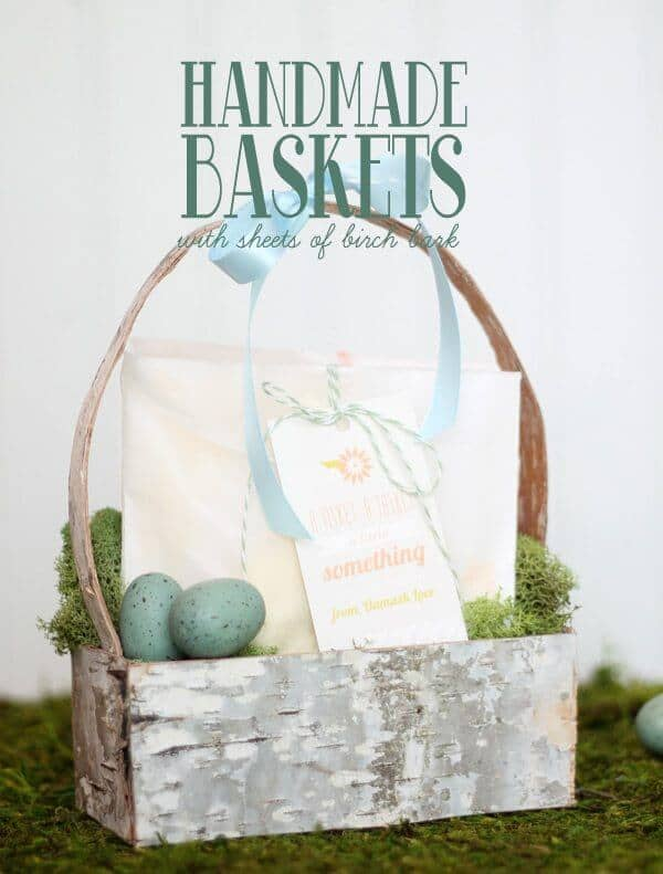 Natural Birch Bark Easter Basket