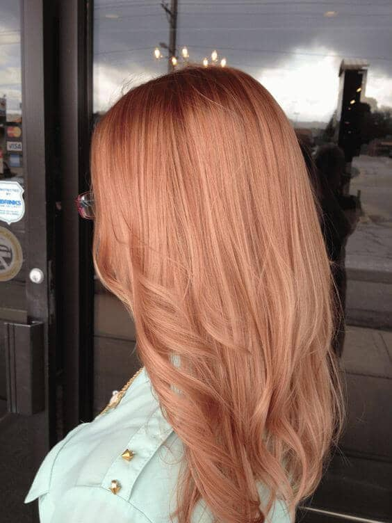 Soft and Subtle Strawberry Blonde Ombre