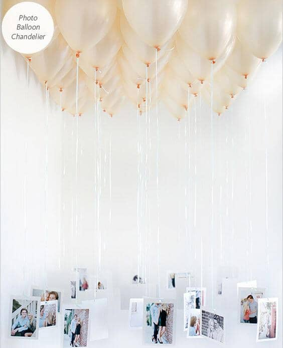 Easy and Unique Photo Balloon Chandelier