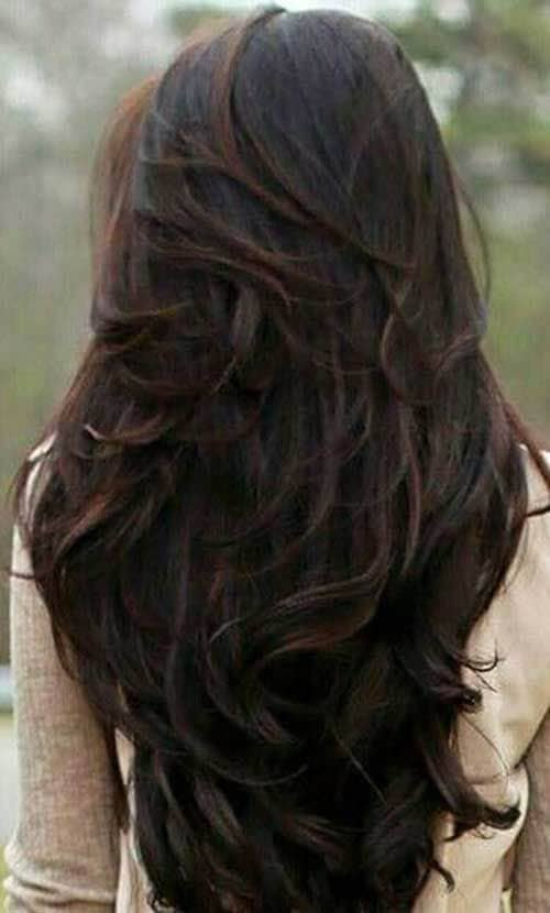 Dramatic Brunette All Over Layers