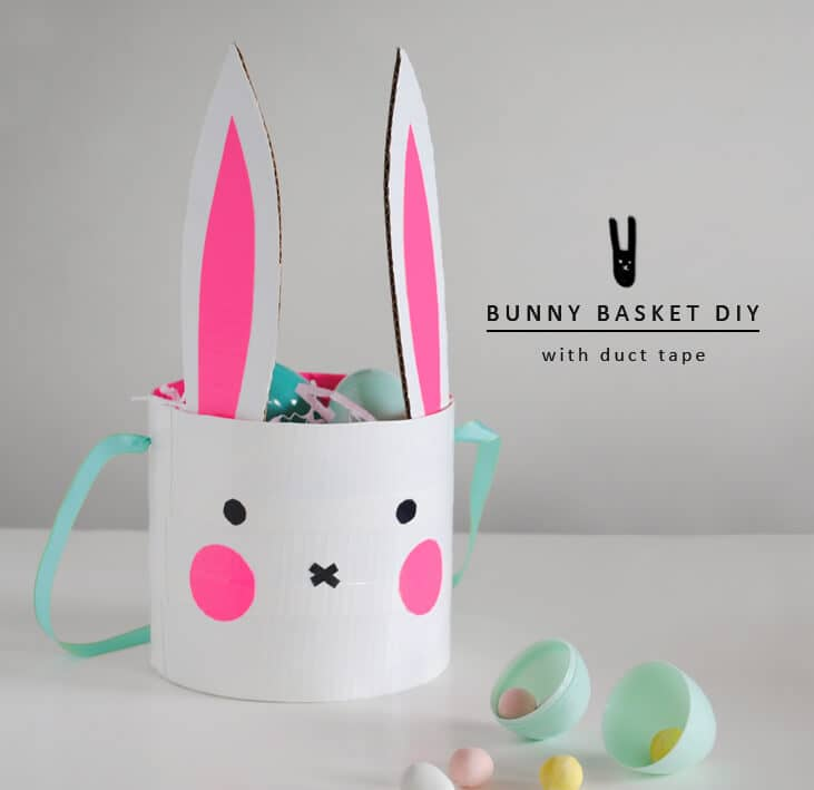 DIY Easter Basket Idea with Duct Tape