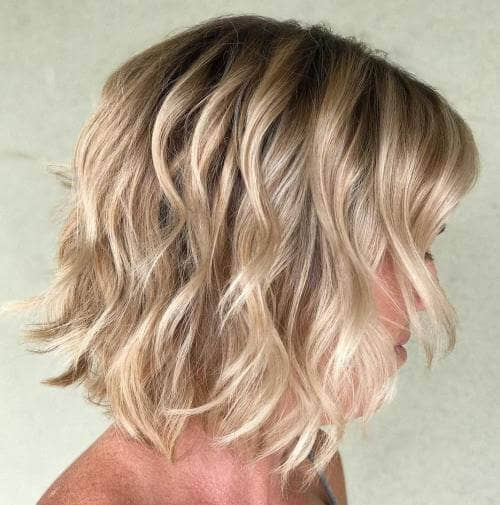 Wavy Bob Haircut Style with Layers