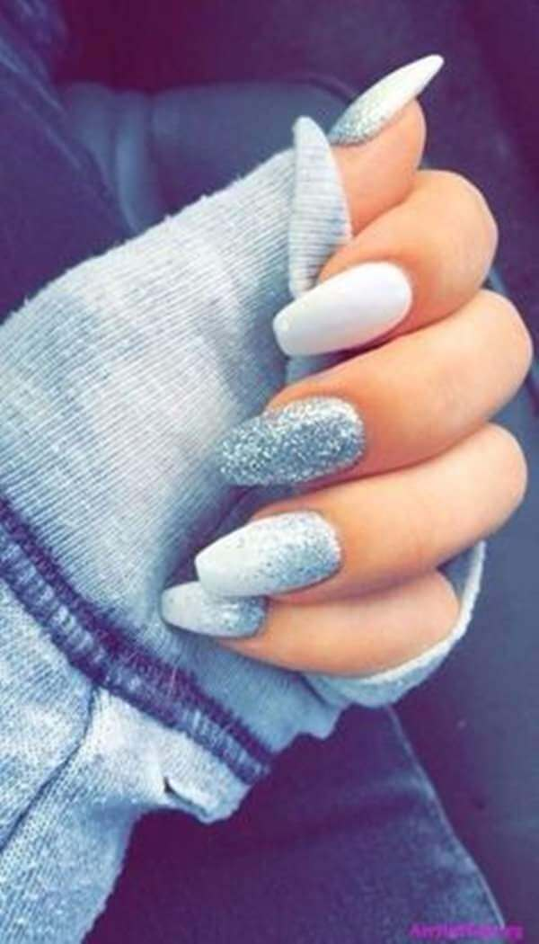 14) Creative Ice Frosted Nail Art - 50 Stunning Acrylic Nail Ideas To Express Your Personality