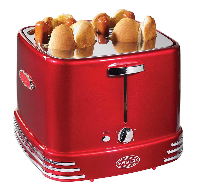 Nostalgia Retro Red Pop Up Hot Dog Toaster
