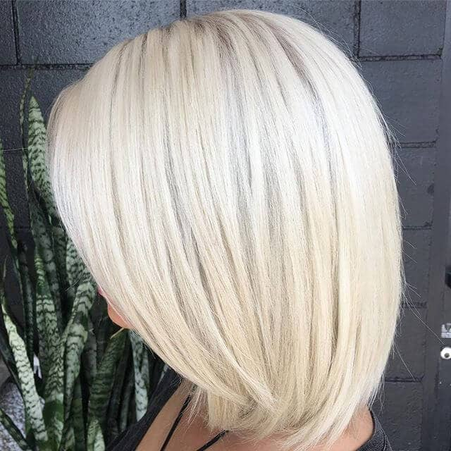 Edgy Bob with Bright Platinum