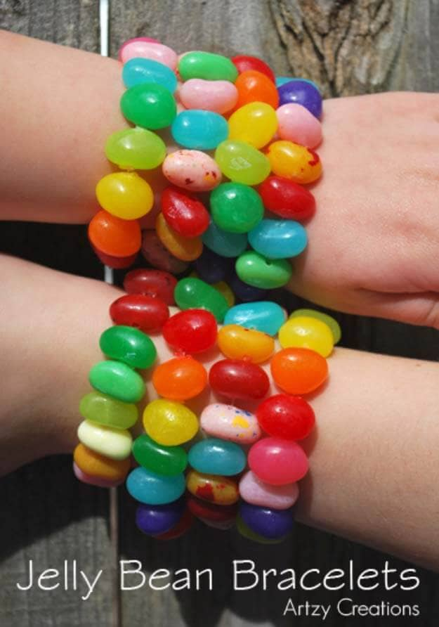Unique Bracelets Made From Jelly Beans