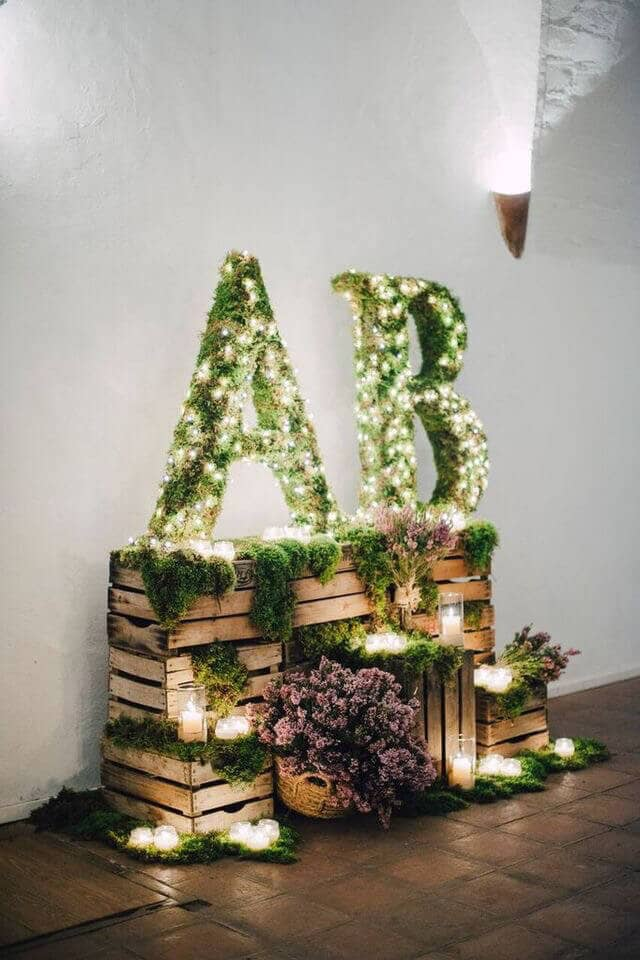 Amazing Nature-inspired Monogram Light Display