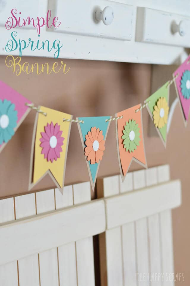 Paper Banner with Cutout Flowers