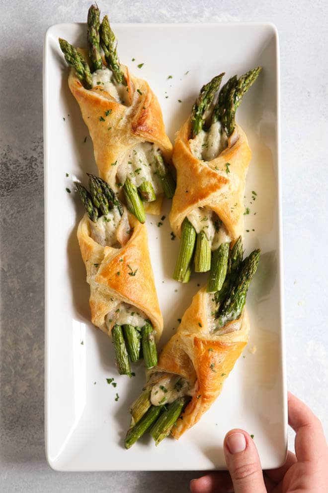 Delicious Puff Pastry Wrapped Asparagus