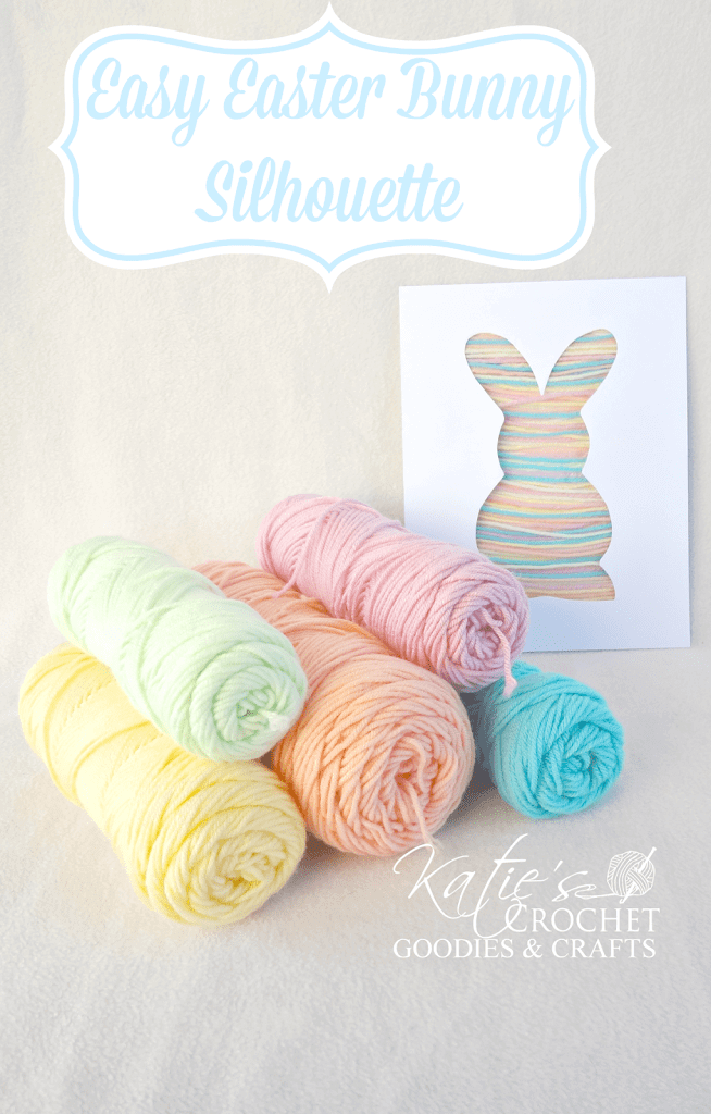 Cute Easter Bunny Yarn Silhouette