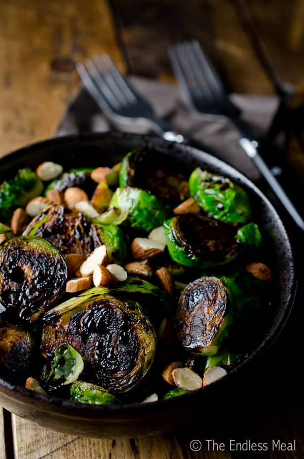 Caramelized Brussels Sprouts with Almonds