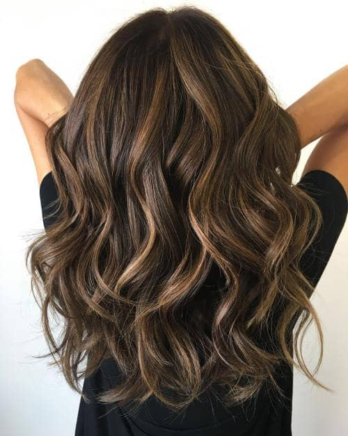 Picture Perfect Layered Brunette Curls